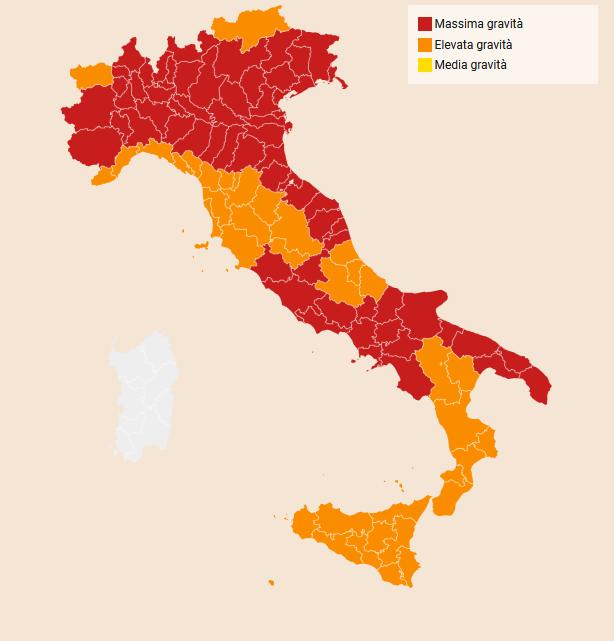 Italian Regional Risk Classifications